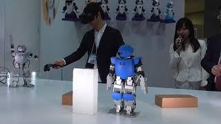 【国際ロボット展2017】ヴイストン「Robovie-Z」デモ