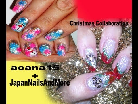 Christmas Collaboration with JapanNailsAndMore,NAIL ART VIDEO TUTORIAL