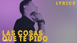 Leoni Torres Las Cosas Que Te Pido Audio Letra