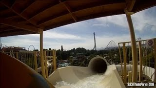 [HD POV] Lightning Falls Water Ride Six Flags Hurricane Harbor Water Park