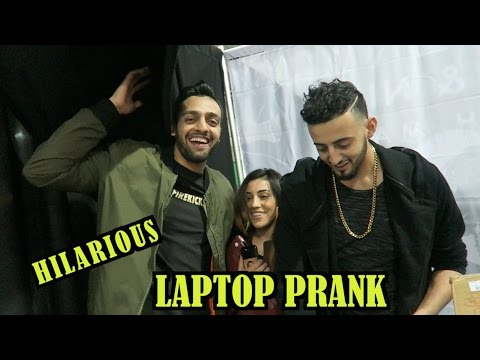 HILARIOUS MISSING LAPTOP PRANK (they got MAD!)