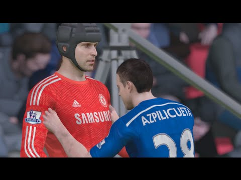 Fifa 15 Demo Gameplay (xbox One): Chelsea Vs Fc Barcelona (snow Conditions) video