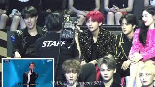 BTS reaction to RM speech @mama2018