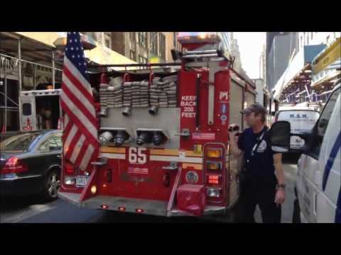 FDNY ENGINE 65, FDNY LADDER 24 AND FDNY BATTALION CHIEF 9 AT FALSE ALARM ON WEST 39TH STREET.