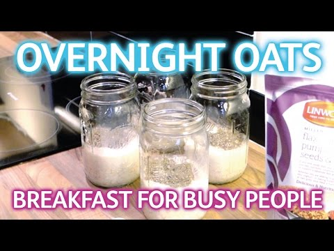 Healthy Breakfast - Overnight Oats in a Mason Jar - Weight Loss Journey