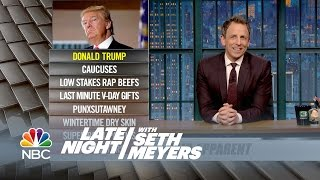 Ya Burnt: Donald Trump, Super Bowl Parties - Late Night with Seth Meyers