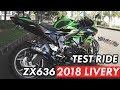 TEST RIDE ZX636 2018 LIVERY | THE NEW KAWASAKI ZX636