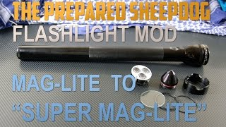 """Super Mag-Lite"" How to remove maglite switch with a torx wrench"