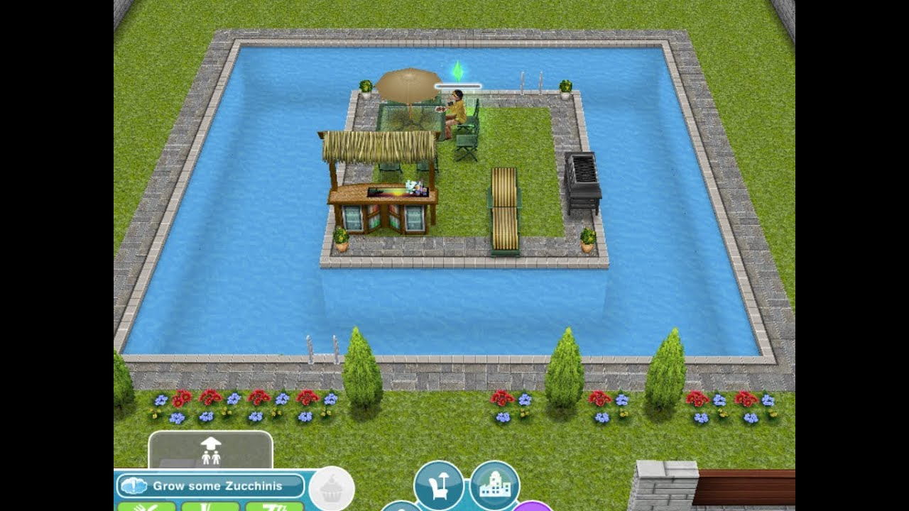 The Sims Freeplay Designing And Builiding Concept Pools 2 Youtube