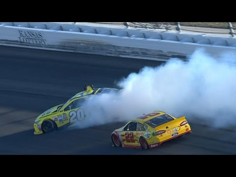 Logano spins Kenseth with 5 to go