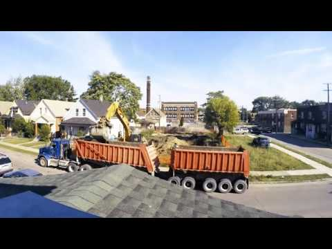 Watch Detroit Demolish 2 Houses in 2 Minutes