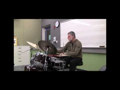 Skip Hadden (weather report) - Drum lesson how to play jazz broken time - Drum Brother