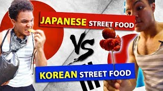 JAPANESE vs KOREAN street food