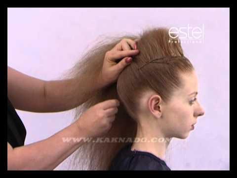 Быстрая высокая причёска