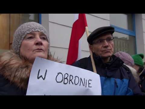 20.12.2017 W Obronie Dr Huberta Czerniaka - Pod Okręgową Izbą Lekarską W Warszawie