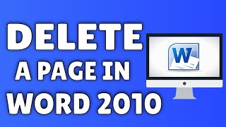 How To Delete A Page In Word 2010