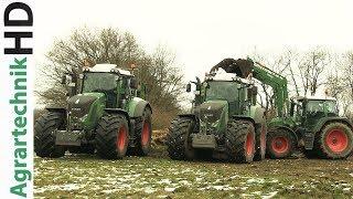 FENDT Traktoren im Schnee | Strautmann Streublitz | Miststreuen | AgrartechnikHD