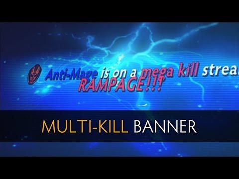 Dota 2 Multi-Kill Banner