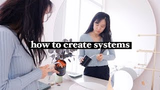 the one habit you need: how to set systems (vs goals) ft. tidy with me