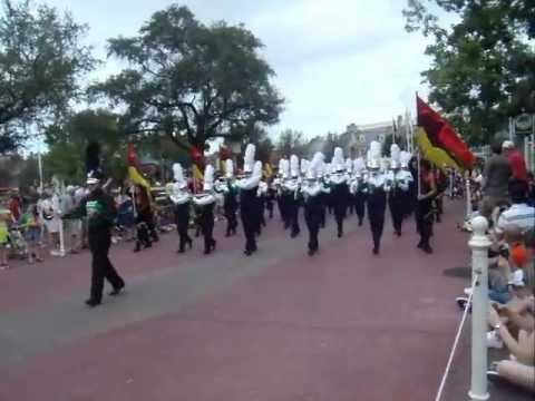 Flanagan High School Falcon Sound Color Guard at the Disney Main Street Parade