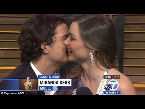 Miranda Kerr's Interview Interrupted by Ex Orlando Bloom