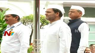 Rahul Gandhi Hoists National Flag For The First Time As AICC President In Delhi | NTV