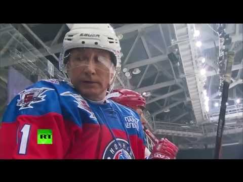 Putin hits Sochi ice on birthday, scores 7 goals