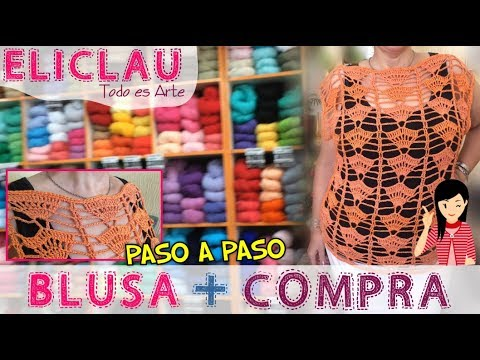 Compra, Paso a paso, Blusa | Buy, step by step, blouse | EliClau