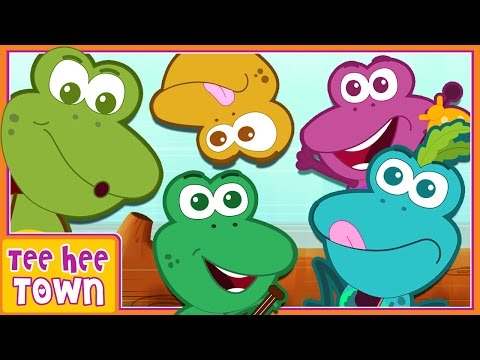 Five Little Speckled Frogs | Nursery Rhymes And Kids Songs By Teehee Town