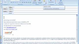 como adjuntar ficheros en outlook o outlook express
