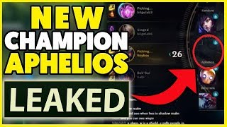 *LEAK* NEW CHAMPION APHELIOS & NEW ITEMS REVEALED! (RIOT PLAY-TEST SERVER LEAK) - League of Legends