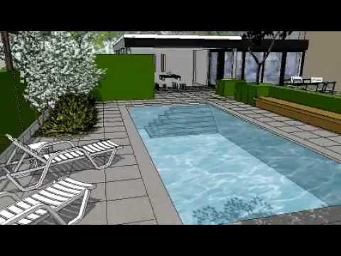 Sfeerimpressie tuin met zwembad youtube - Outs zwembad in de tuin ...