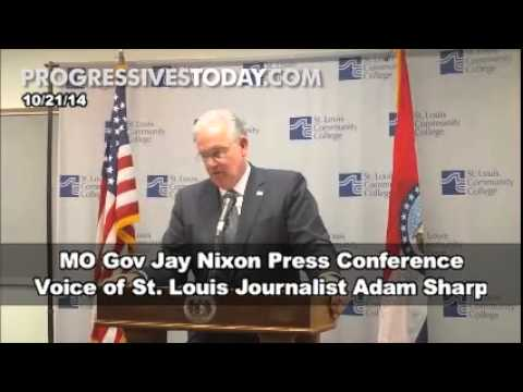 MO Gov Jay Nixon Ducks Brutal #Ferguson Questions From St. Louis Journalist
