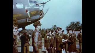 WW2 Bombers - 1943 Color Footage Documentary