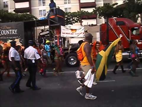 Jamaica Carnival Road March 2014 [ See Footage of Gays Doing Dutty Wine Dance }