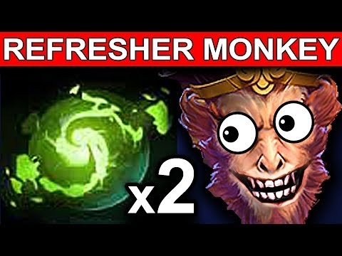 REFRESHER MONKEY KING DOTA 2 PATCH 7.06 NEW META PRO GAMEPLAY