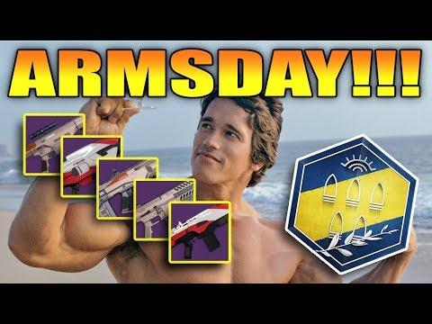 Armsday August 16, 2017 - Destiny Gunsmith Foundry Order Guide
