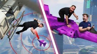 Skydive Onto A Plane Challenge!   GTA5