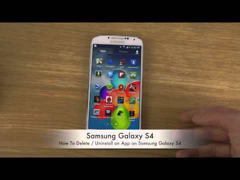 How To Delete / Uninstall an App on Samsung Galaxy S4