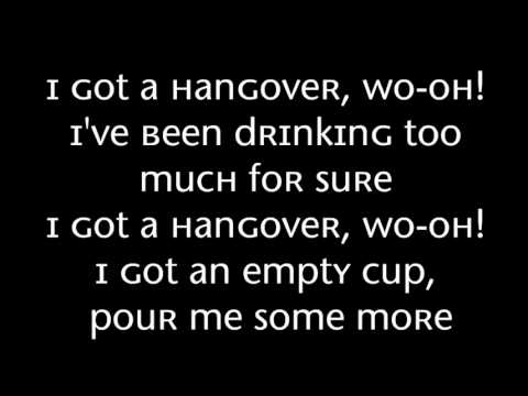 Taio Cruz Ft Flo Rida - Hangover With Lyrics On Screen video