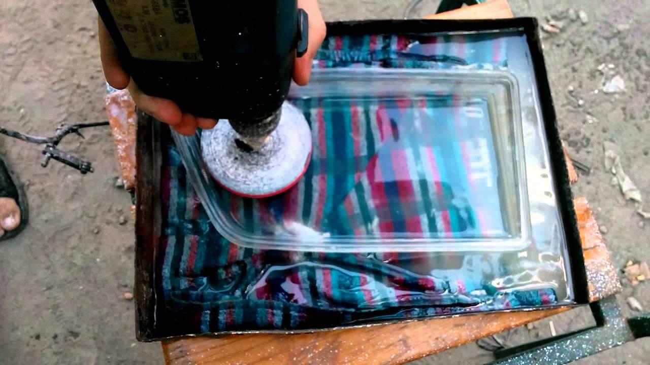 Шлифовка стекла фары под линзу своими руками 30