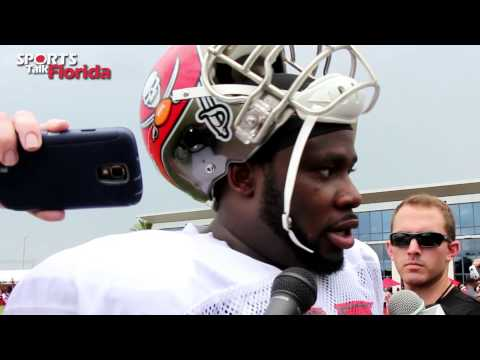 Tampa Bay Bucs' guard Oniel Cousins spoke to the media after Sunday's practice about the need for more chemistry on the offensive line.
