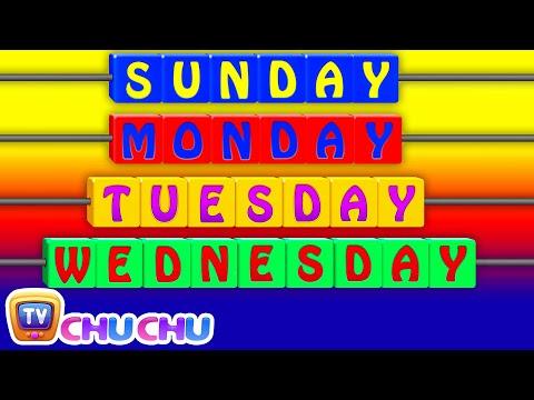 Days of the Week Song  7 Days of the Week – Nursery Rhymes & Childrens Songs  ChuChu TV
