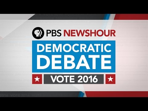 PBS NewsHour Democratic Debate with Closed Captions