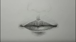 How to draw beautiful lips step by step