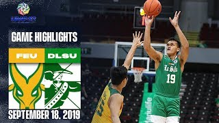 FEU vs. DLSU - September 18, 2019  | Game Highlights | UAAP 82 MB