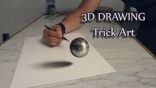 3D Art /Drawing of haver ball/Speed Painting Trick Art