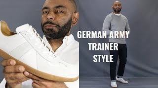 How To Wear German Army Trainers Featuring Beckett Simonon