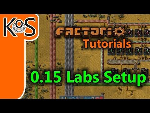Factorio Tutorials: 0.15 Labs Setup  (Science, Belt Braiding, )