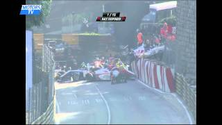 Big crash - 2014 F3 Macau GP